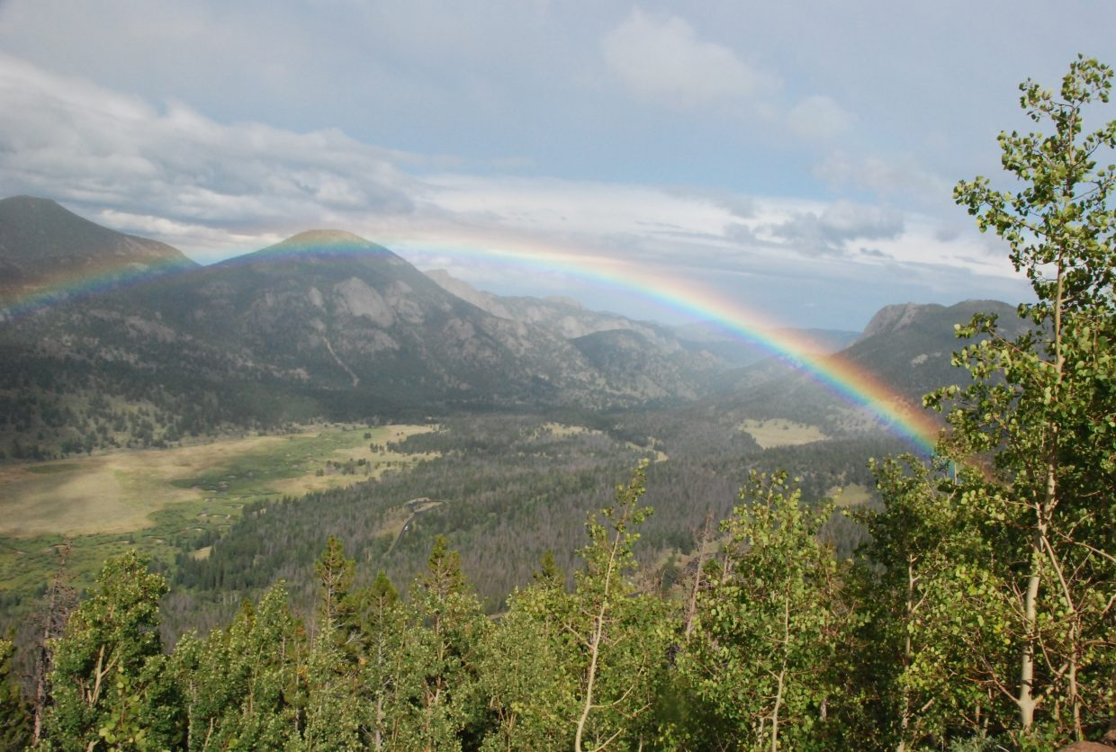 Rainbow on Trail Ridge Drive. Submitted by Glenn Andrew.