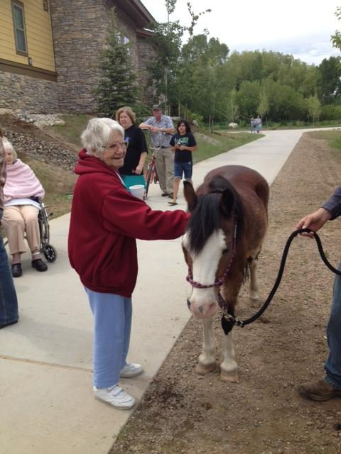 Casey's pond resident enjoying the petting zoo. Submitted by: Kelly Ornberg