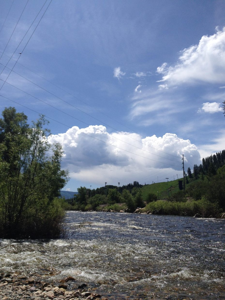 Cloud bridge over the Yampa. Submitted by: Karen Lindeman