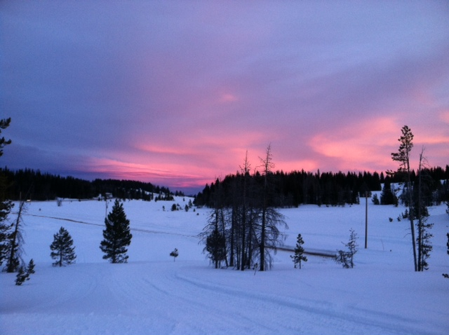 Valentines Day sunset, taken from a cabin on Rabbit Ears Pass. Submitted by: Jason Cobb.