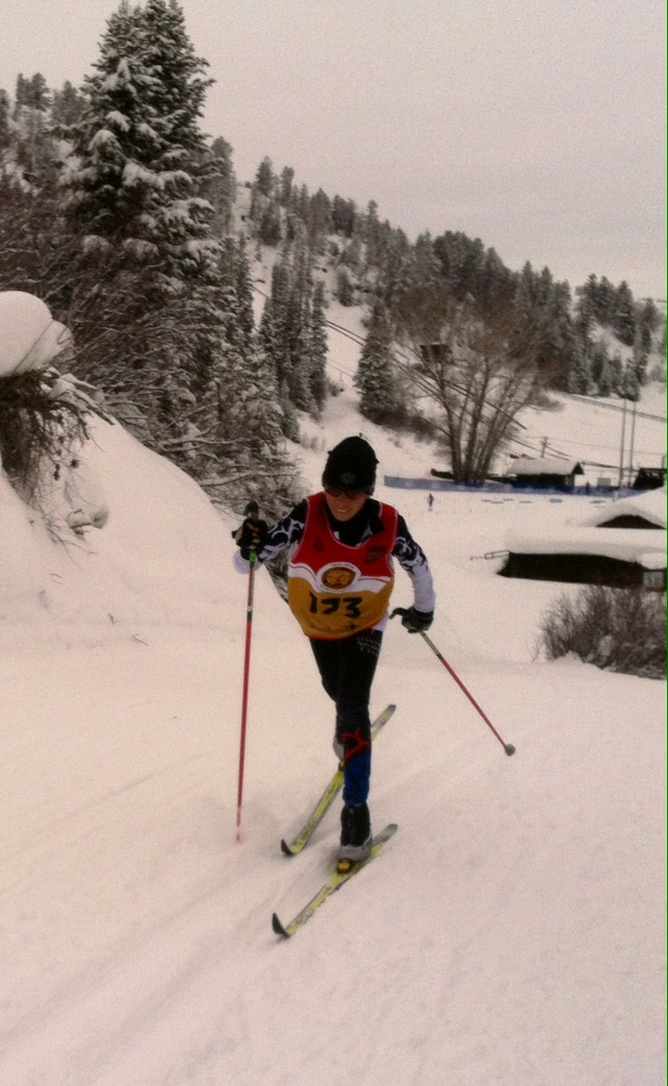 Sven Tate skiing to victory in the CU/RMNJNQ race in Steamboat. Happy birthday, Sven! Submitted by Allison Tate.