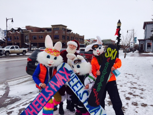 Santa pic with bunnies. Submitted by: Molly Sarikelle.