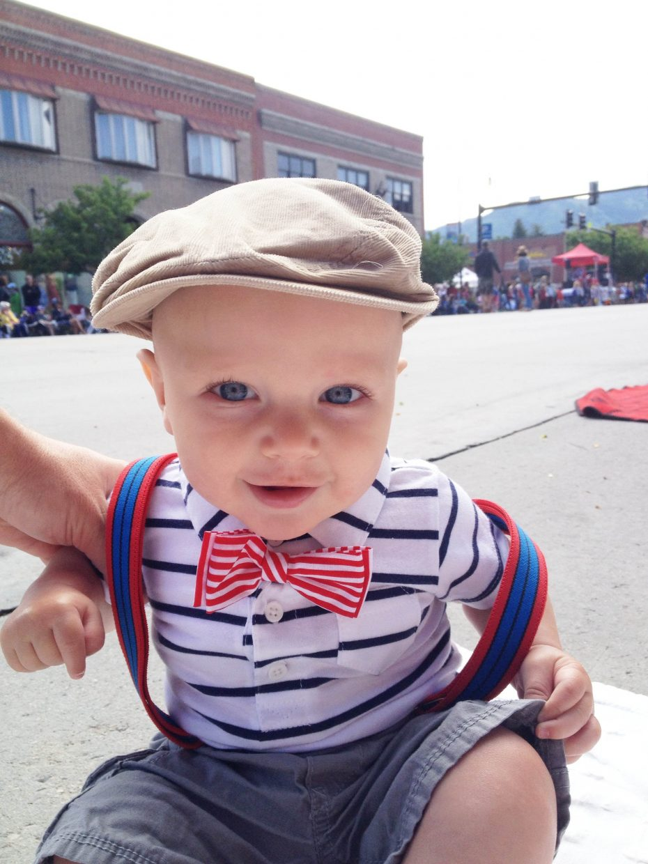 Bowan Willson's 1st 4th if July in Steamboat. Submitted by: Lindsey Wilson