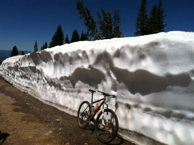 Snow wall on Storm Peak on Monday. Submitted by: John Hoover
