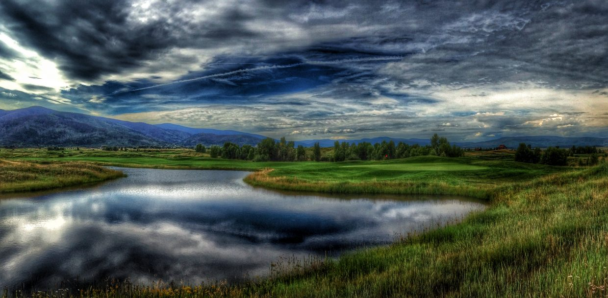 Haymaker's 10th green, after last Wednesday's rain storm. Submitted by: Chris Lanham