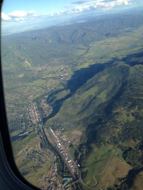 It was a beautiful night to fly into Steamboat, 7/22! Submitted by Mae Greene.