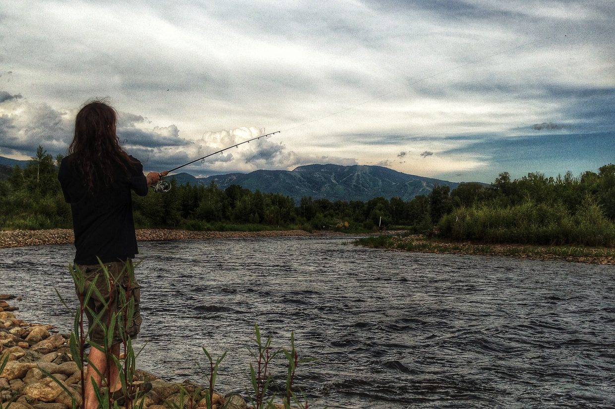 Fishing on the Yampa River. Submitted by: Chris Lanham