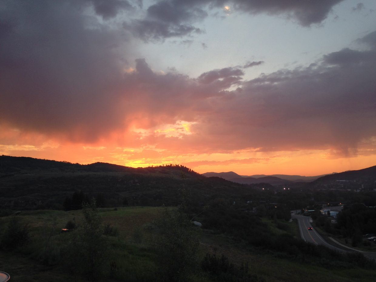 Sunset over Steamboat. Submitted by Juli Montes.