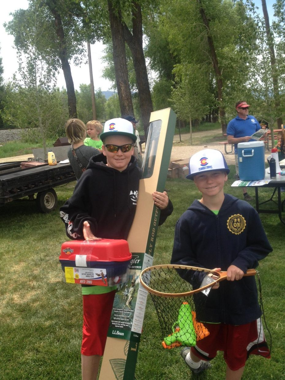Luke and Pete Wichelhaus — Optimist Club fishing derby winners! Submitted by: Kathy Wichelhaus