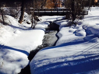 Soda Creek slowly skimming over. Submitted by: Joseph S. McManus