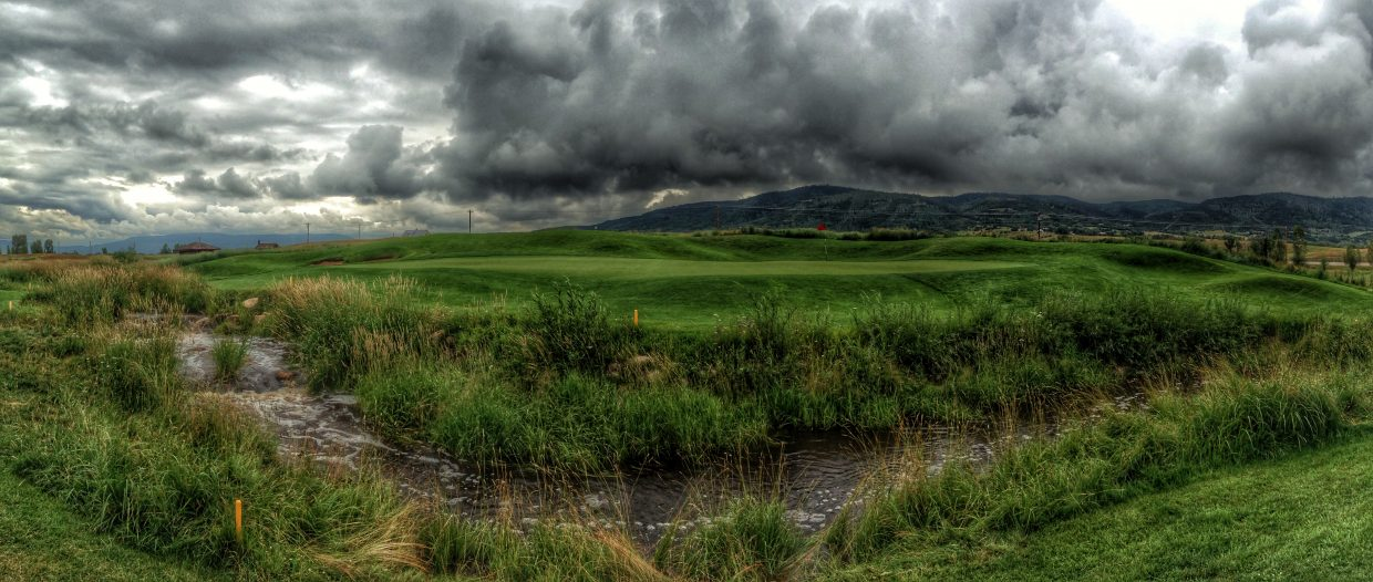A storm is brewing over the 16th Green, Haymaker Golf Course. Submitted by: Chris Lanham