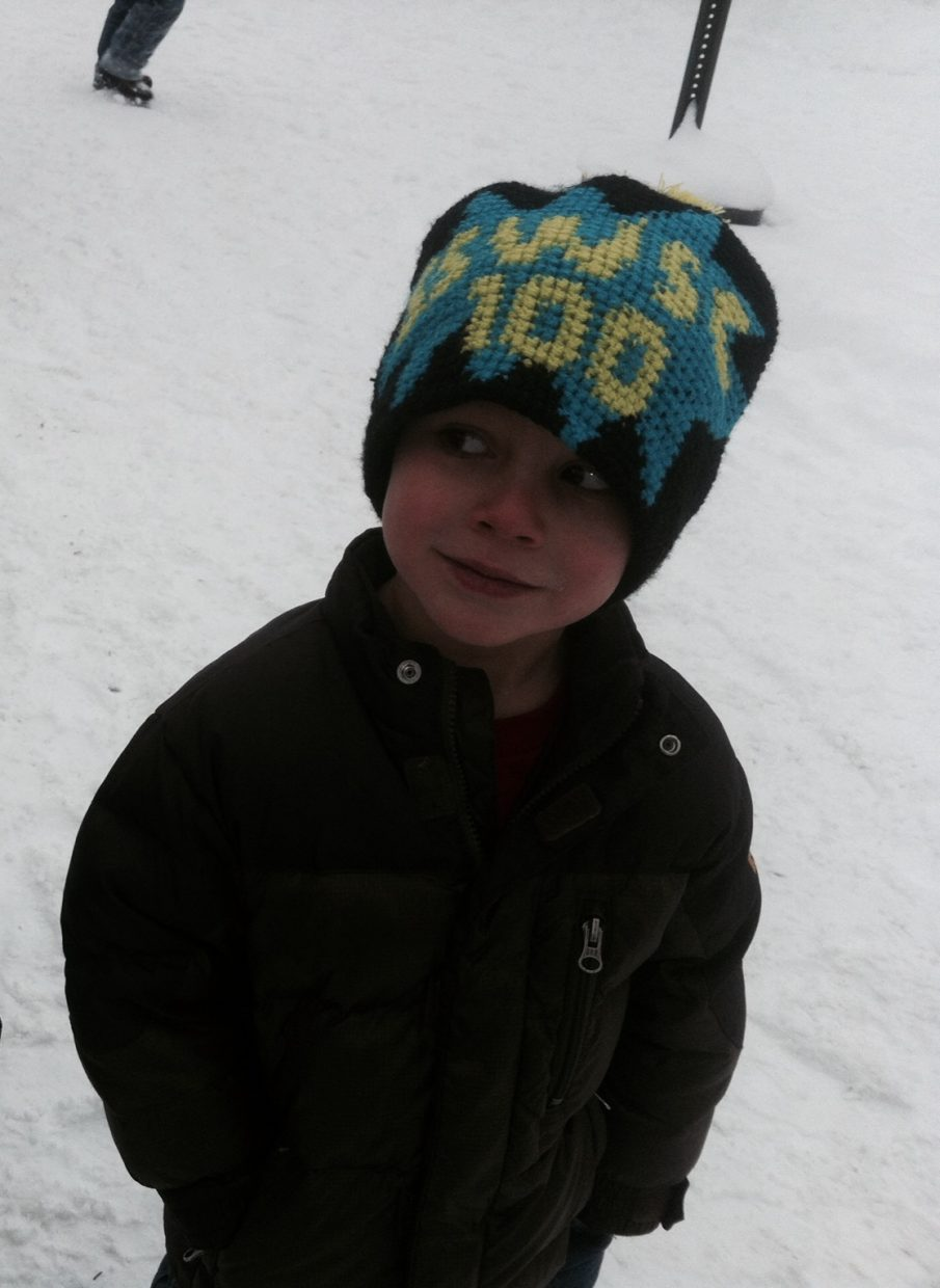 Mateo Foss Rodriguez, U6, celebrating 100 years of the Steamboat Springs Winter Sports Club. Submitted by: Kelley Rodriguez