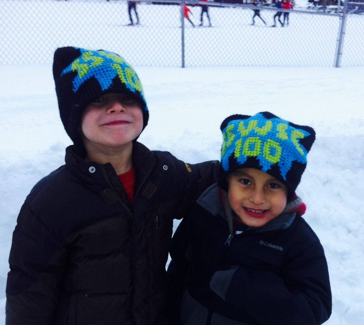 Mateo and Marc Rodriguez, U6, celebrating 100 years of the Steamboat Springs Winter Sports Club. Submitted by: Kelley Rodriguez