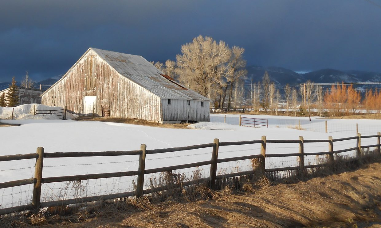 Old barn on Colorado Highway 131. Submitted by: Richard A. Curtis