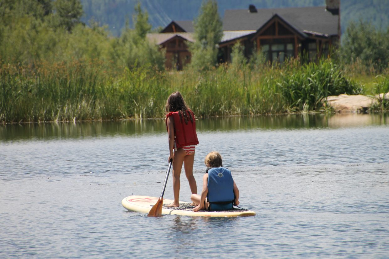 Paddleboarding is the newest fad this summer.
