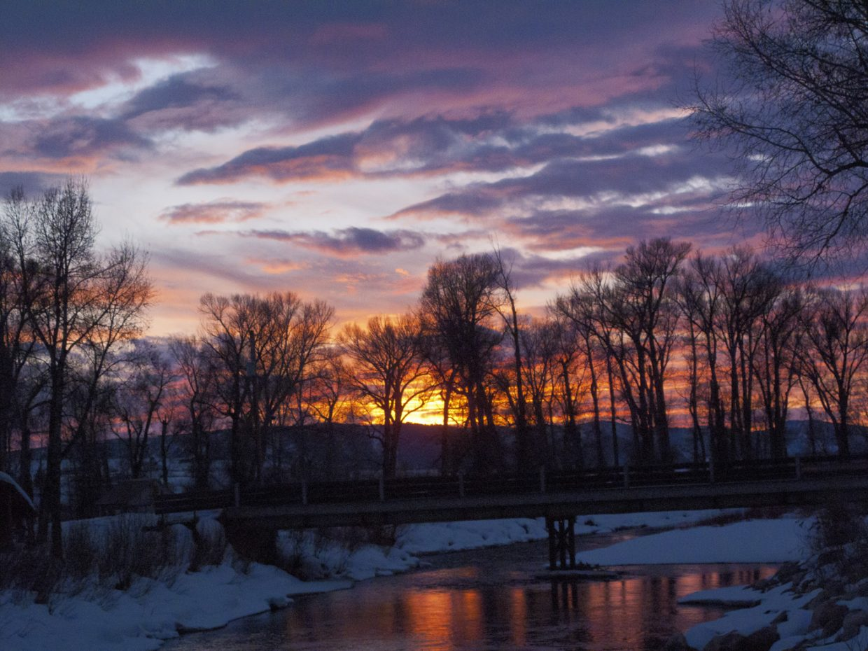 Sunset on the Yampa Riveer. Submitted by Matthew Grasse.