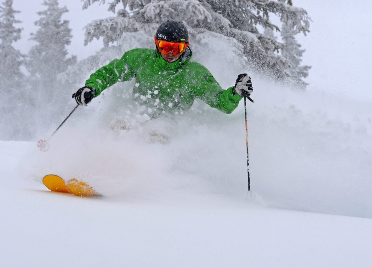 Skier: Billy Grimes; Run: upper Alarm Clock. Submitted by Larry Pierce.
