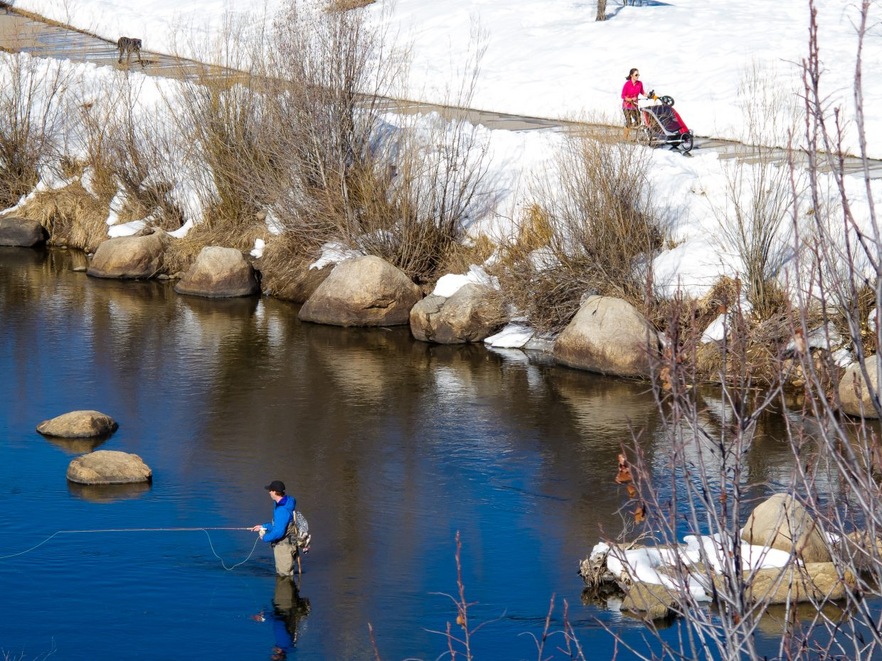 """""""From River Road overlooking the Yampa River and the Core Trail."""" Submitted by Charlie Williams."""