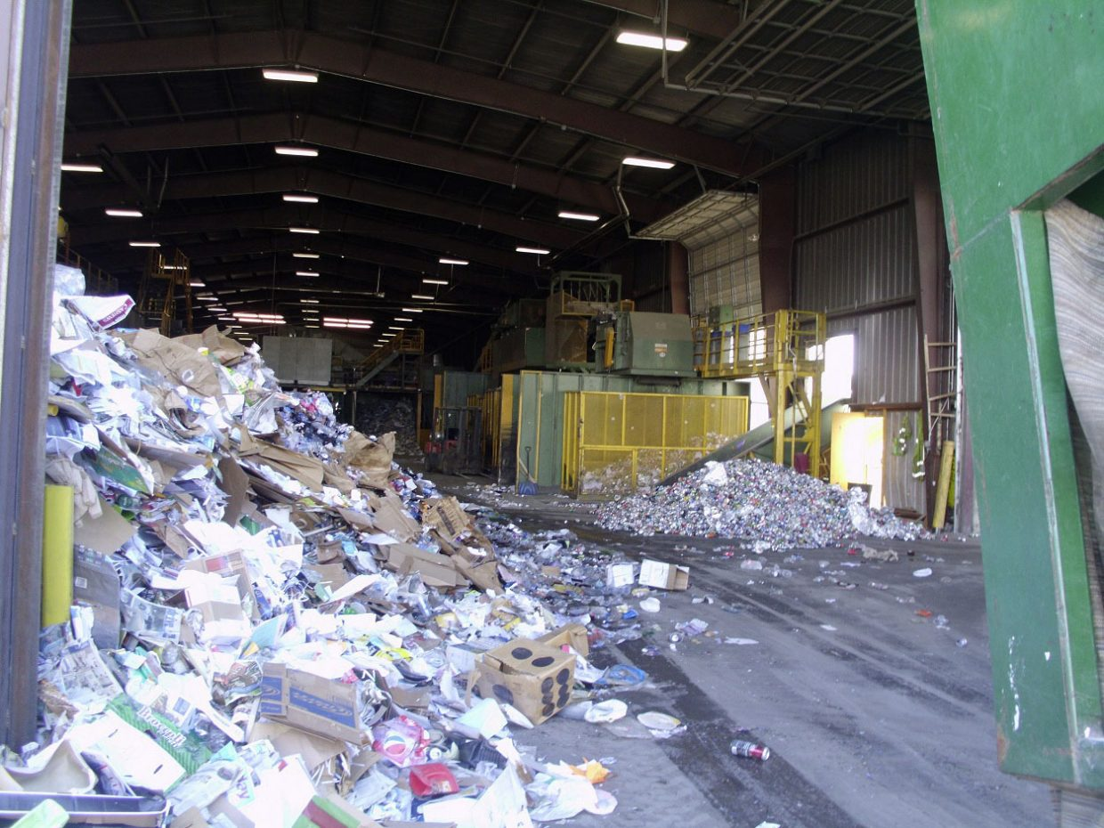 Ace's High Services in 2013 trucked about 100 tons of single-stream recycling to the Alpine Waste materials recovery facility in Denver.