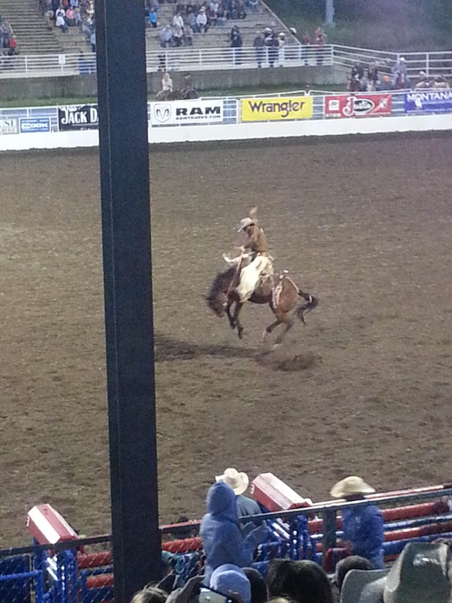 An uplifting experience at the rodeo. Submitted by: Dale Schueffner