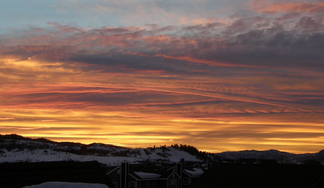 Sunset over Howelsen Hill. Submitted by Roxanne Pranger.