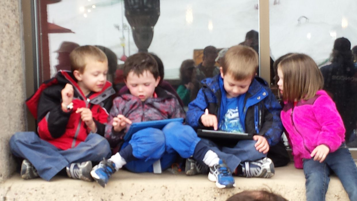 Kids sitting in the window during Leftover Salmon. Submitted by Scott Wilcox.