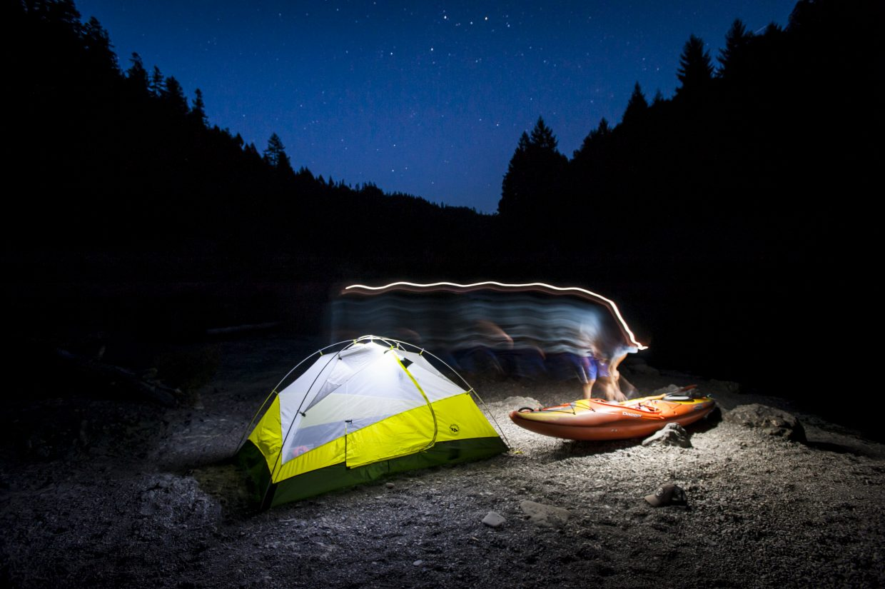 Eugene Buchanan recently embarked on a kayak trip down the Rogue River in Oregon. He and his group, which were guided by Rogue Wilderness Adventures, overnighted on a broad cobblestone beach along the river.