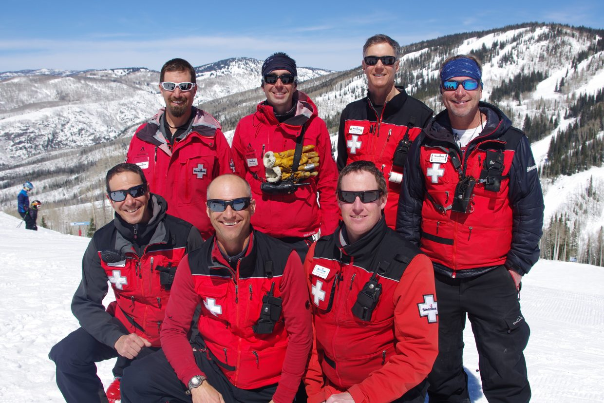 Some of the patrollers who made the exchange over the years are pictured above. Jon Feiges, Kyle Lawton and Ryan Thompson are pictured in the front row, and Pete Lewis, Frenchman Pierre Boulonnais, Craig Olsheim and Charlie Reynolds are standing), and Jon Feiges, Kyle Lawton and Ryan Thompson are shown standing.