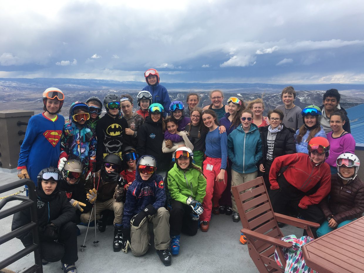 Steamboat Springs Middle School thanks Steamboat Ski and Resort Corp., Christy Sports and Powder Tools for sponsoring a free ski day at Steamboat Ski Area, which made it possible for every single eighth grader to experience a day of skiing on the mountain.
