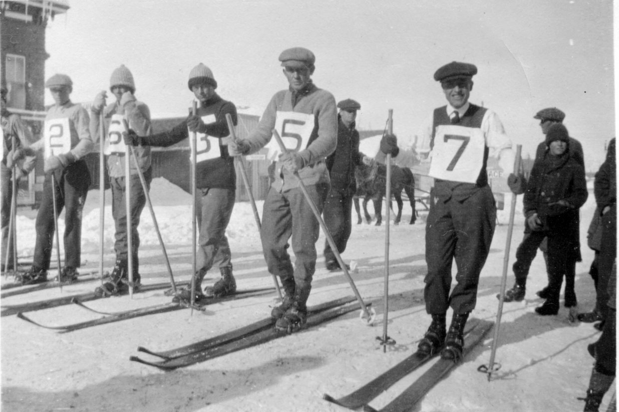 Taken in 1916, this photo from the Tread of Pioneers Museum archives shows a snapshot of Steamboat's skiing history.