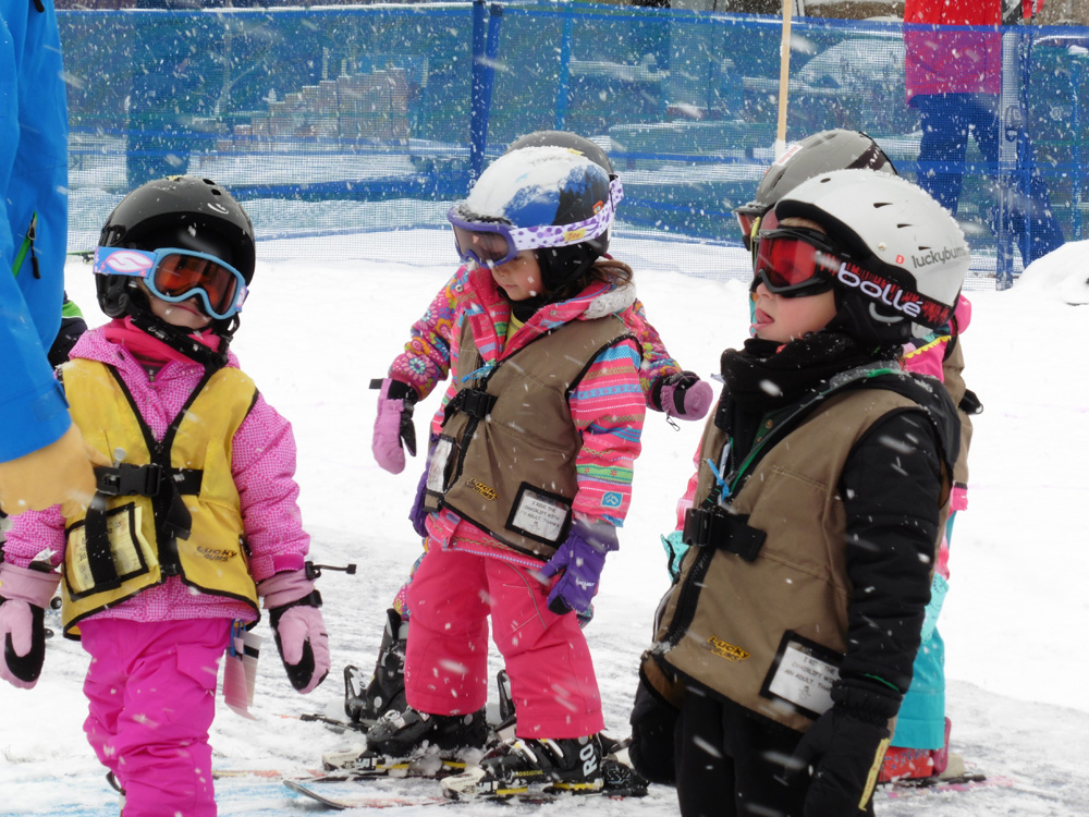 I caught this pic on Sunday when it was snowing -- thought it was a cute candid of the little ones in ski school. Submitted by: Elaine Hurd