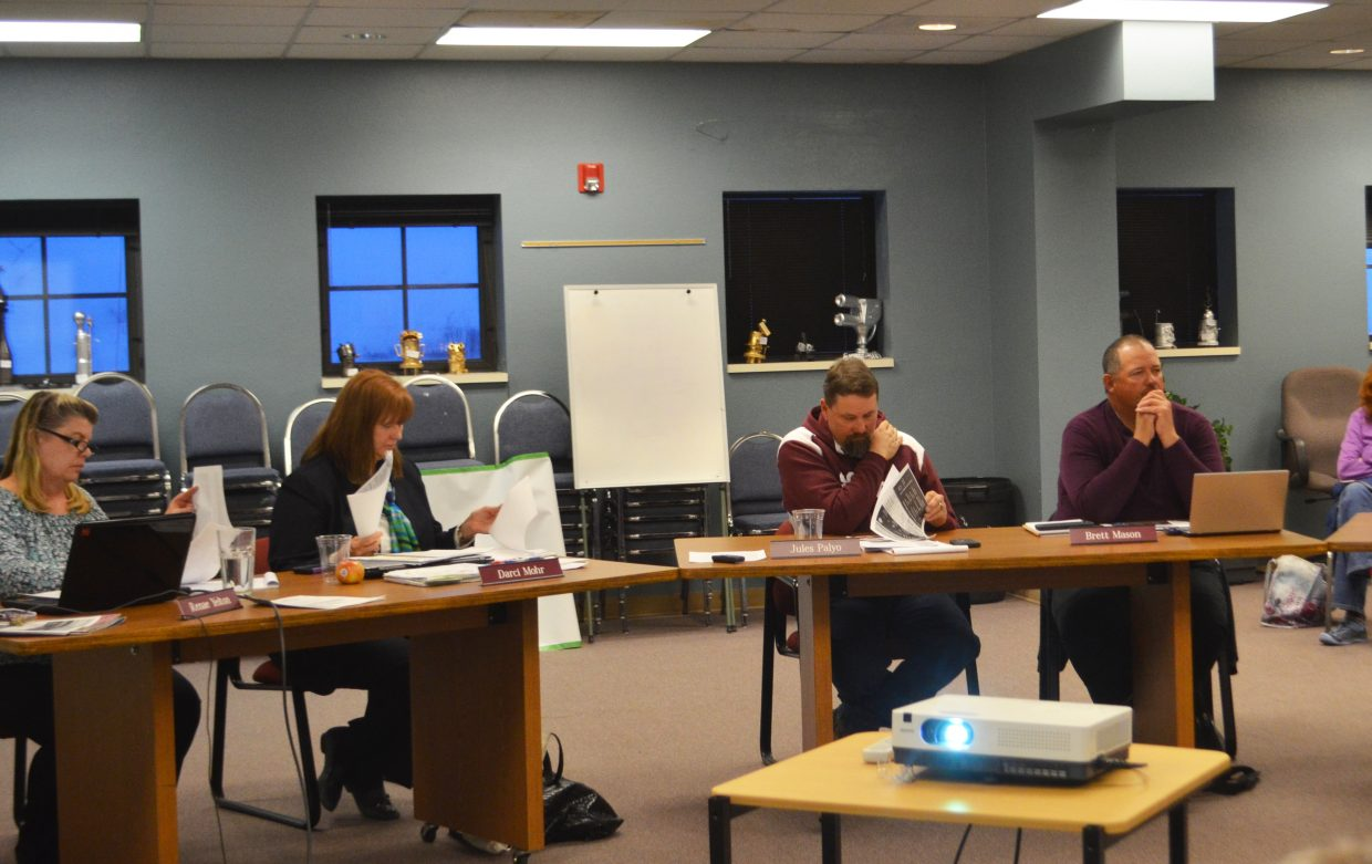 The South Routt Board of Education met Tuesday night and held a discussion about the possibility of combining the superintendent and secondary schools principal positions.