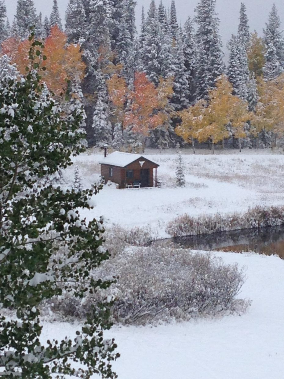Photo of the BinkHouse at the Stanford Cabin at Steamboat Lake. Submitted by: Shelley Stanford