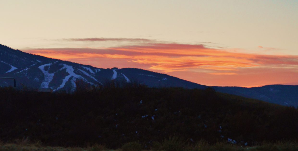 Steamboat sunrise. Submitted by: Krissy Small