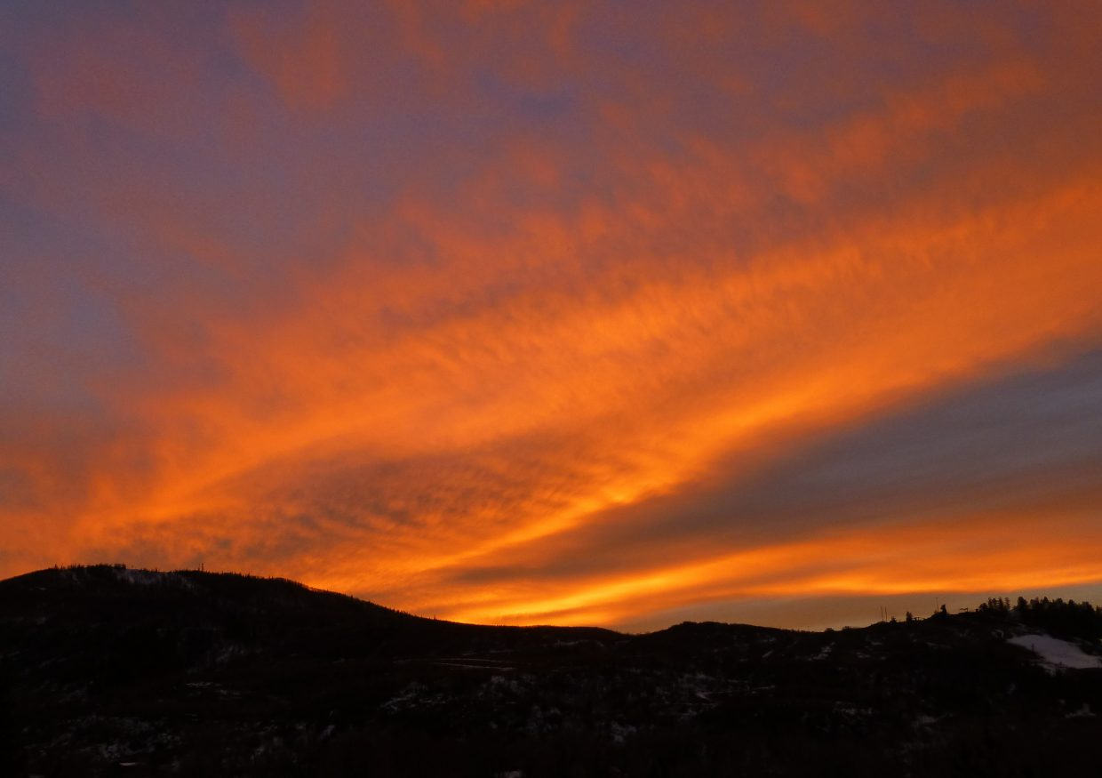 Thursday's sunset over Emerald. Submitted by: Gail Hanley