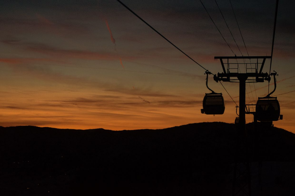 Sunset gondola ride. Submitted by: Cyndi Marlowe