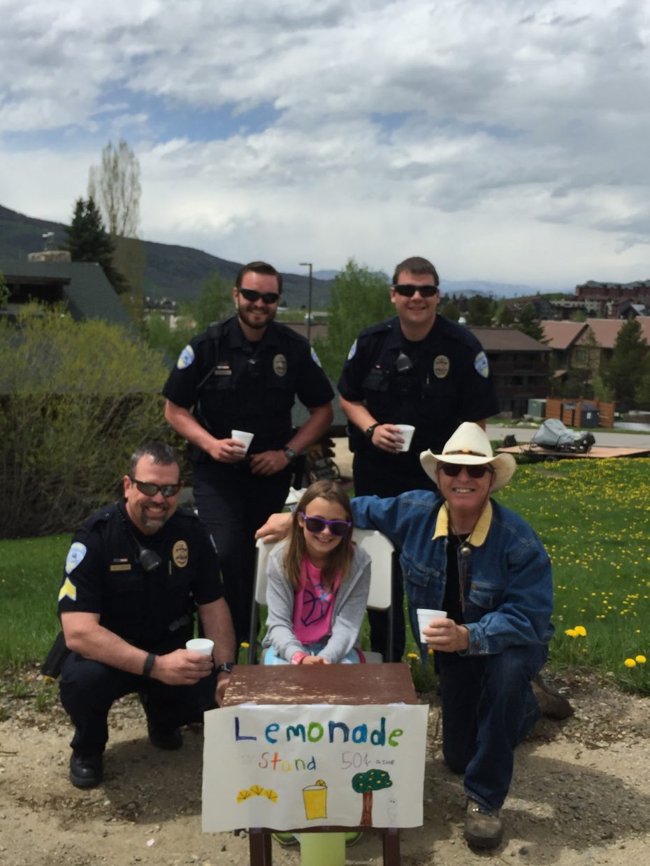 Steamboat's Finest and Billy Kid support local entrepreneur Grace Felinczak. Submitted by Jenifer and Robert.