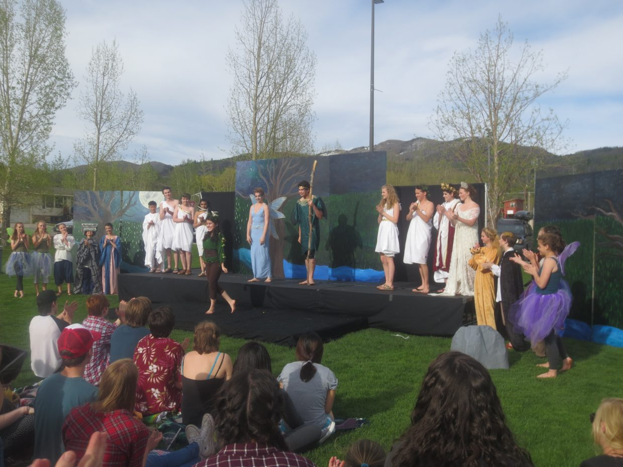 """""""SSHS Drama Troupe's outdoor production of 'A Midsummer Night's Dream.'"""" Submitted by Michael Staley."""
