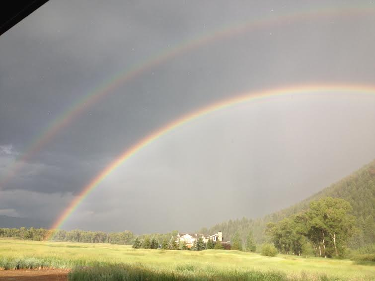 Double rainbow after the hail storm. Submitted by: Cindy Sanders
