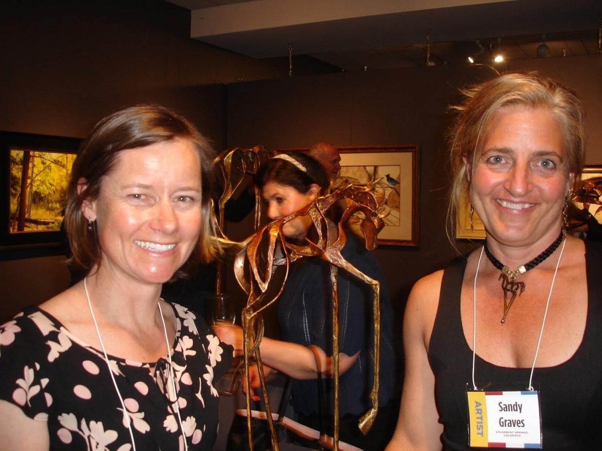 Two of our local Steamboat artists are in the 2016 Governors Art Show, Sandy Graves and Chula Beauregard were accepted into this prestigious Colorado show. The show is taking place at the Loveland Art Museum through May 31st. Submitted by Rachael Shiebler.