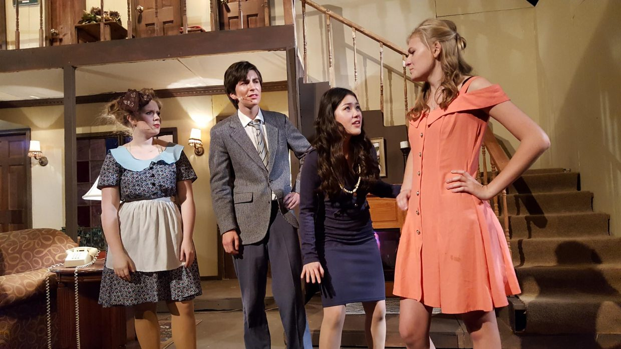 "Hannah Heil, Henry Tisch, Sammi Lee and Libby Lukens star in Steamboat Springs High School's latest production of former Broadway comedy hit ""Noises Off,"" but it's the new set built by students that may be the star of the show this weekend."