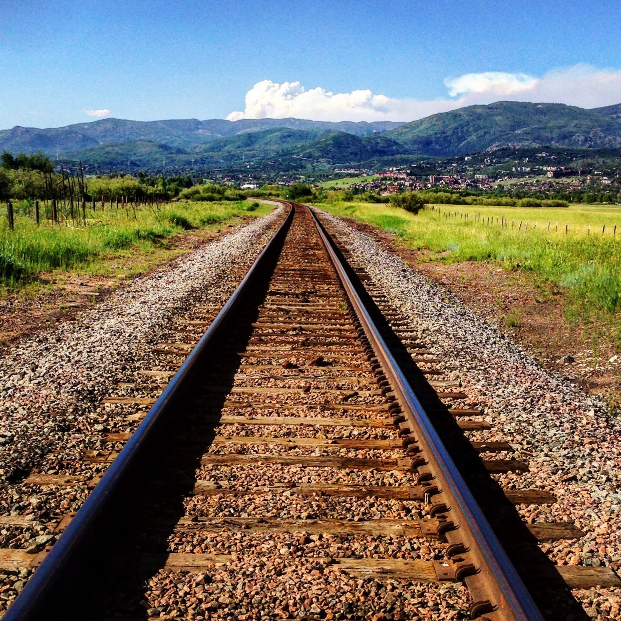 The Beaver Creek fire outside of Walden as seen from the railroad tracks near Chuck Lewis SWA, Steamboat Springs, Colorado, Monday, June 27th, 2016. Submitted by Jacquelyne Cox.