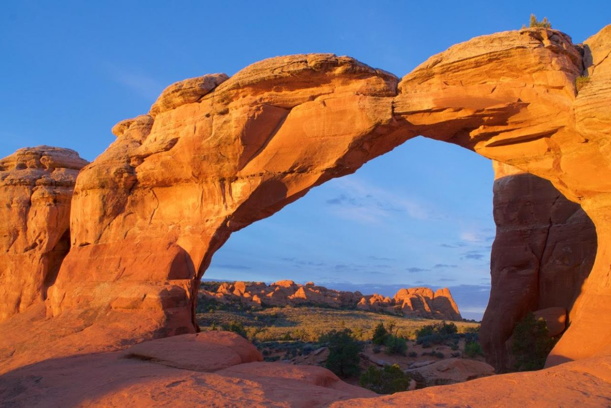 """Broken Arch, in Arches National Park."" Submitted by Lana Turner."