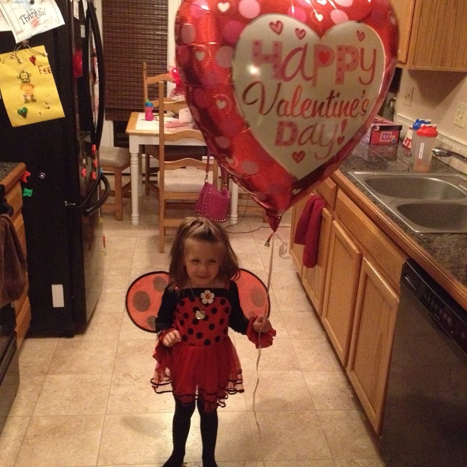 Happy valentines day from my granddaughter Phoenix. Submitted by: Mary Davies.