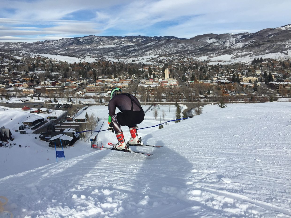 Colorado Mountain College skier Graham Black, seen here in preparation for World University Games in Granada Spain. Submitted by: Terry Leonard