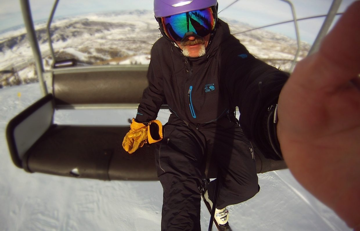 GoPro, ski tip selfie. Submitted by Chris Lanham.