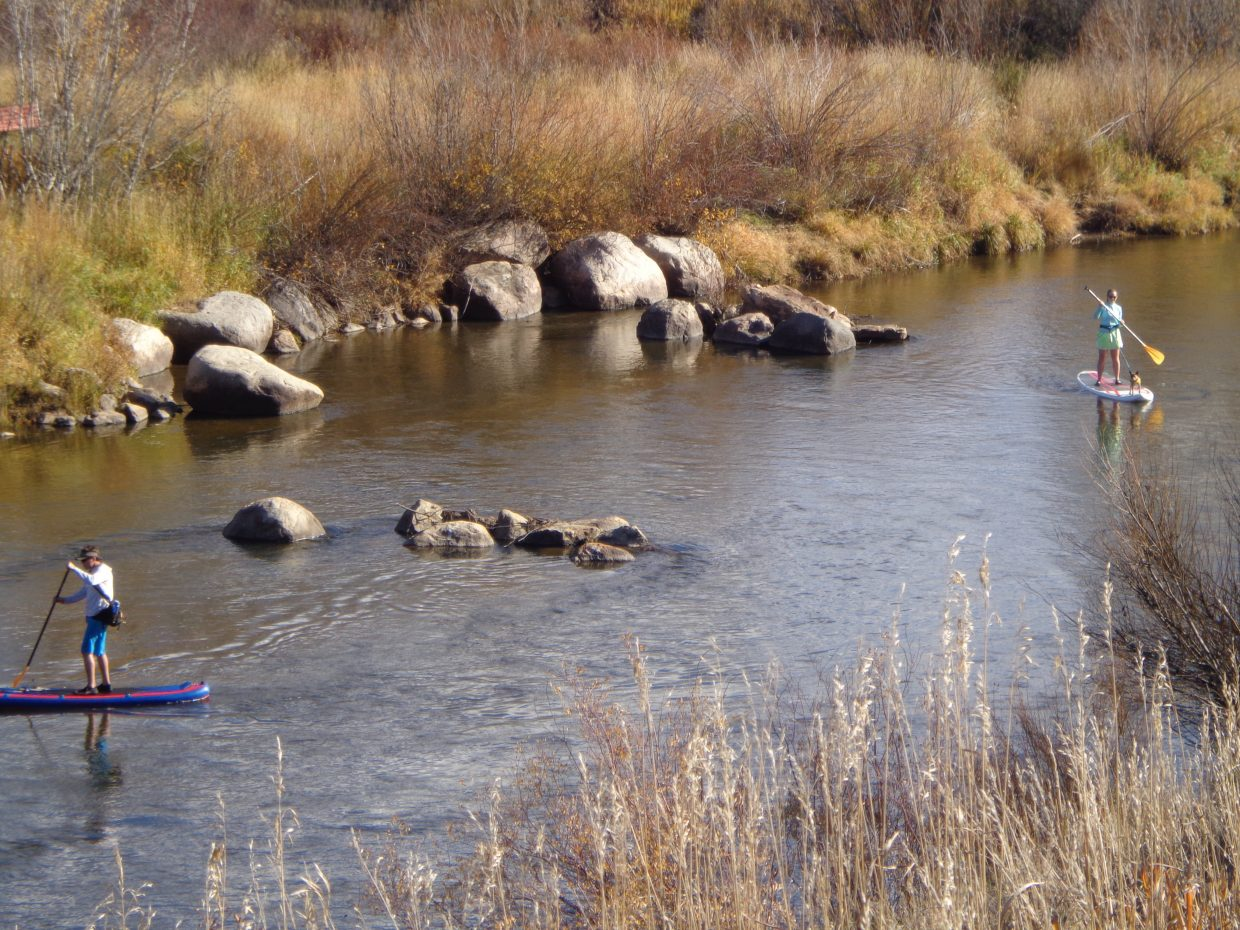 Paddling the Yampa. Submitted by: Ron Szerlong.