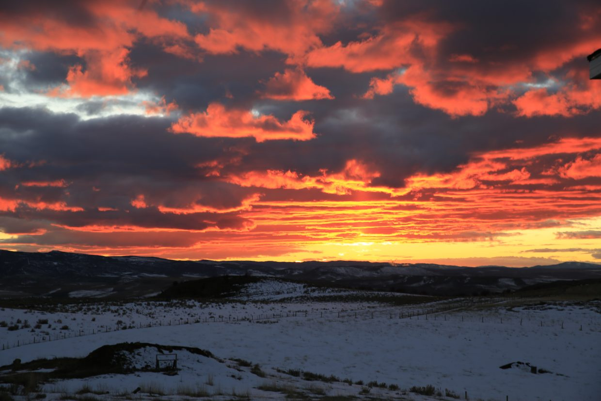 sun set picture taken on the cog in February. Submitted by: joe pierce