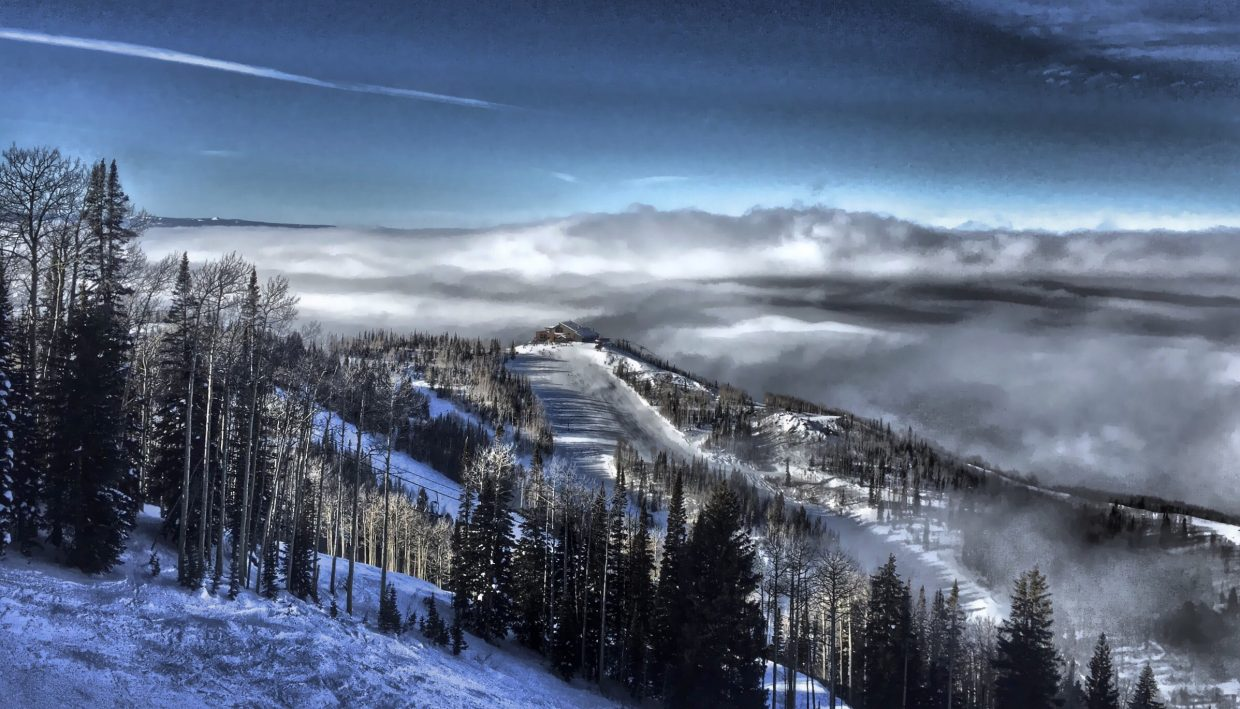 Clouds blanketing the Yampa Valley early Friday morning. Submitted by: Chris Lanham.