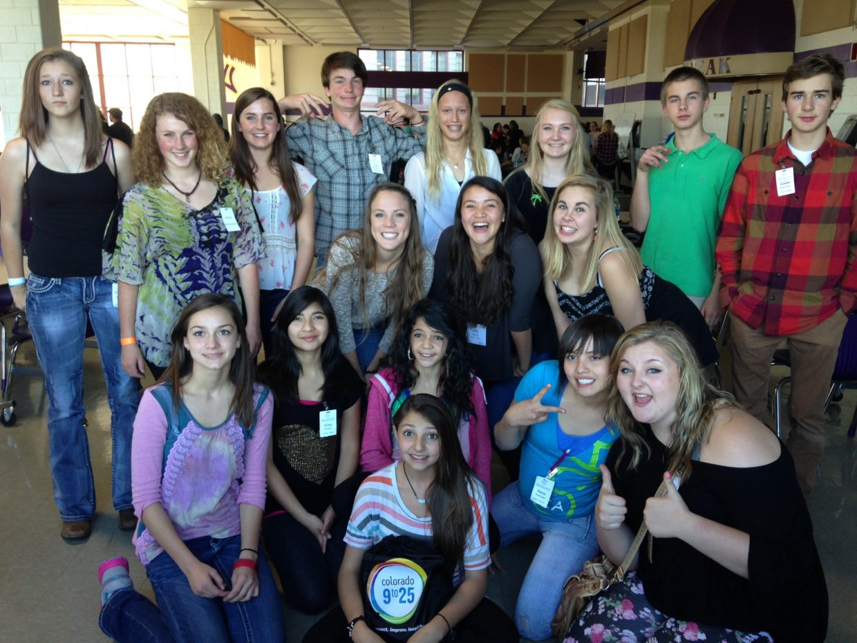 Students from the South Routt and Steamboat Springs Teen Councils attended the statewide Colorado Youth Leadership Summit in Denver on Oct. 25. Teen Council is a program of Grand Futures Prevention Coalition and the City of Steamboat Springs. Submitted by: Kate Elkins.